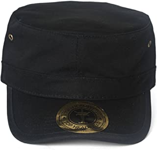 TOP HEADWEAR TopHeadwear Basic GI Adjustable Cadet Cap - Black