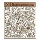 Paris Scherenschnitt Karte, Weiß 30x30 cm Papierkunst