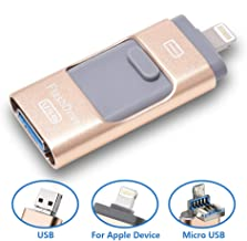 3 in 1 USB Flash Drive 64Gb Memory Photo Stick, External Thumb Storage Drive for iPhone/iPad/iOS/PC/Android Micro