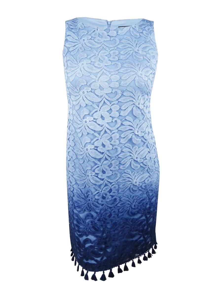 Available at Amazon: Jessica Howard Women's Sleeveless Shift Dress with Detailed Hem