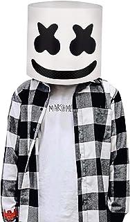 Marshmallow DJ máscara Casco del Festival música Máscara la Mascarada del Novedad Látex de Goma máscara la Cabeza Completa.Molezu.