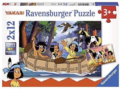 Ravensburger 07607 - Yakaris Abenteuer, 2 x 12 Teile Kinderpuzzle