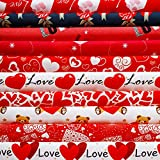 Irenare 10 Stück Valentinstag Stoff 45,7 x 55,9 cm