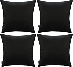4 Pack Soft Velvet Cushion Covers,Comfortable Decorative Square Throw Pillow Covers for Sofa Bedroom Couch (Cover Only,No ...