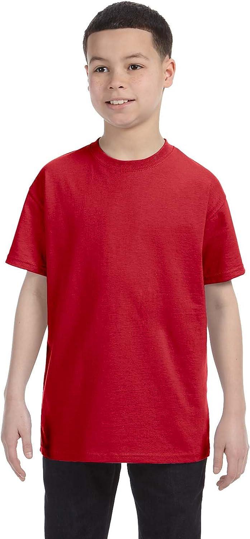 Hanes - Tagless Youth Short Sleeve T-Shirt - 5450: Clothing