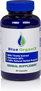 Silymarin 300mg Milk Thistle Extract Capsules, Standardized to 80% Silymarin 20:1 Ratio, Natural Pure Organic Liver Support Supplement