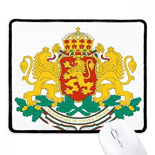 DIYthinker Sofia Bulgarien National Emblem Non-Slip Mousepad Spiel Büro Schwarz Titched Kanten Geschenk