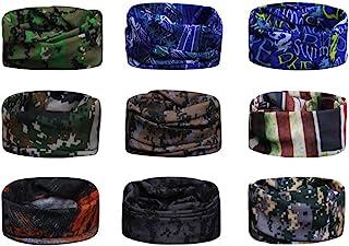 Scott Edward 9pcs Headbands Headwear elástico Magia Bufanda Bandana Bandas de Deportes Yoga sin Costuras Camuflaje, Color ...