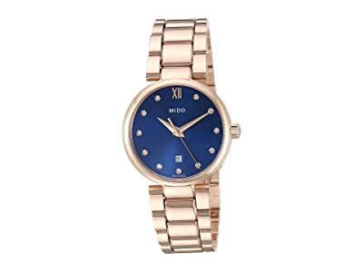 Mido Baroncelli Donna Quartz Rose PVD Bracelet M0222103304600 (Blue) Watches