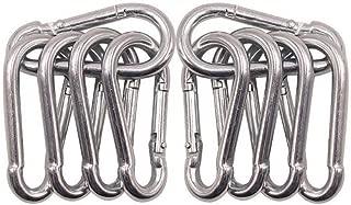 10 Pack Spring Snap Hook Carabiner Galvanized Steel Clip Keychain