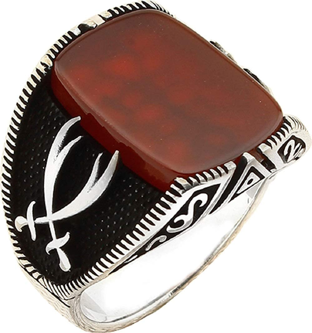 argunjewellery Turkish Jewelry Zulfiqar Over item handling Sword Black Max 82% OFF Agate Side 9