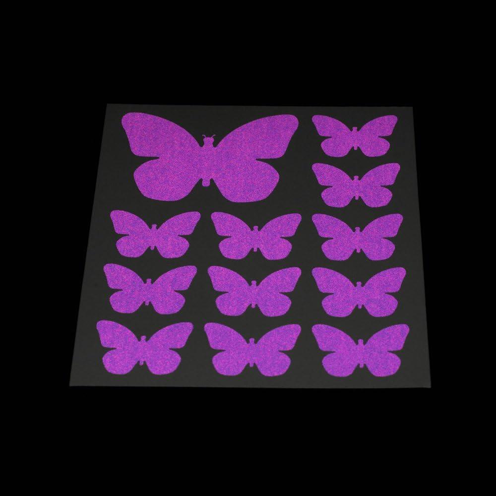 Rydesafe Reflektierende Aufkleber Schmetterlinge Kit Grün Bekleidung