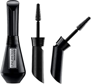 L'Oréal Paris Makeup Unlimited Lash Lifting and Lengthening Washable Mascara, Instant Lash Lift Effect, Two-Position Wand, Straight or Bent, Customize your Lash Look, Blackest Black, 0.24 fl. oz.