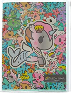Tokidoki Claire's Neon Star Girl's Neon Star Mermicorno Journal Set - Green