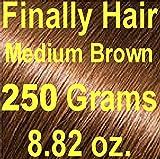 Finally Hair Hair Fiber Refill 250 Grams 8.82 ounces For Hair Loss Concealing by Finally Hair (Medium Brown)