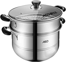 YYSM Steamer Stainless Steel Pot Multi-layer 26cm Household Double-layer Steamed Buns Pot Gas Induction Cooker Universal (...