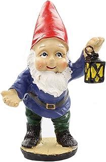 فانوس جنية للحدائق الجنية من NW Wholesaler - تمثال صغير للقزمة للحدائق الجنية أو ديكور للحدائق الداخلية والخارجية