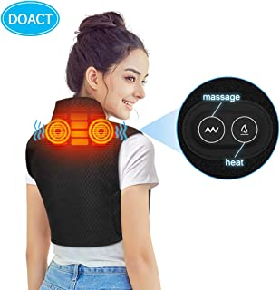 DOACT Heating Pad for Shoulders and Neck, Heated Vest Shawl with Adjustable Heated Levels and Vibration Massage for Shoulder Neck Pain, Neck Strain, Shoulder Inflammation