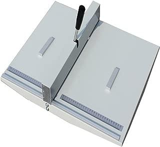 14Inch Manual Creasing Machine Scoring Paper Creasing Machine Desktop Paper Card Creaser Scorer with 2 Magnetic Blocks