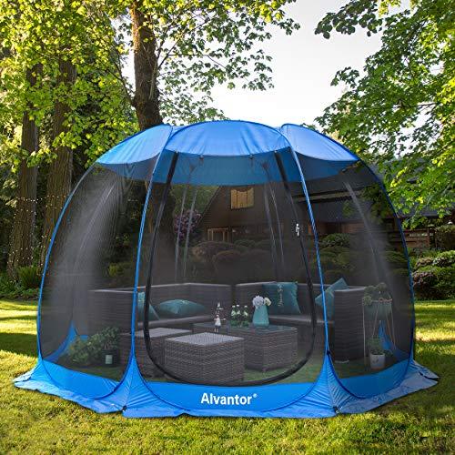 Alvantor Screen House Room Camping Tent Outdoor Canopy Dining Gazebo Pop Up Sun Shade Shelter 8 Mesh Walls Not Waterproof Blue 12'x12' Patent