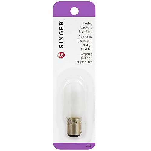 Singer Long Life Light Bulb 15 Watt-120 Volt-Push-In Base (