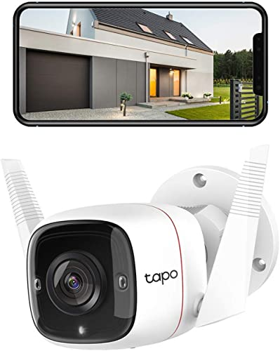 TP-Link Tapo Outdoor Security Wi-Fi Camera - 3MP Crystal-Clear, Wired & Wireless, Motion Detection, Night Vision, Two...
