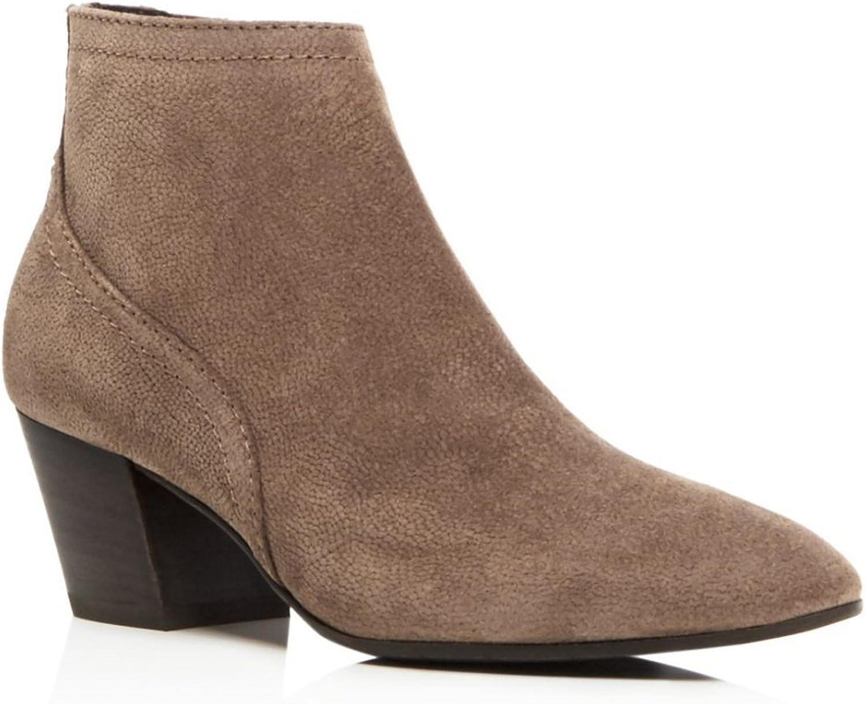 Aquatalia Filipa Pebbled Suede Ankle Boots Bootie