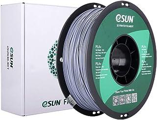 eSUN PLAプラス 3Dプリンターフィラメント、1.75 mm 3Dプリンター用 PLA+ (1KG) スプール造形材料 (グレー)