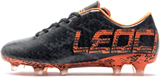 LEOCI Performance Soccer Shoes - Men and Boy Soccer Shoes Outdoor Soccer Cleat Black Size: 11.5