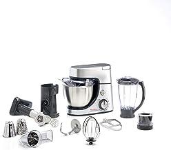 MOULINEX Masterchef Gourmet Kitchen Machine, 1100 Watts, Silver, Plastic/Stainless Steel, QA513D27
