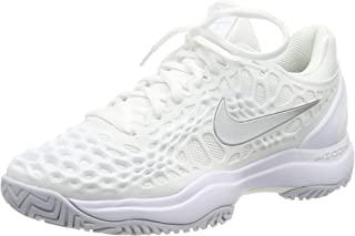 Women's Zoom Cage 3 Tennis Shoes (10, White/Silver)