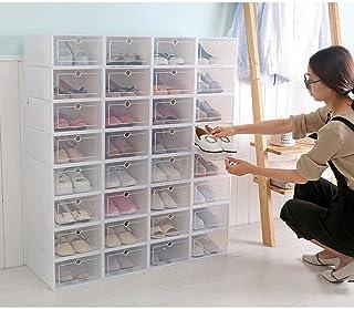 Lot de 24 boîtes à chaussures empilables en plastique pour la maison