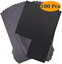 Selizo 100 Sheets Black Carbon Transfer Tracing Paper for Wood, Paper, Canvas and Other Art Surfaces (9 x 13 Inches)