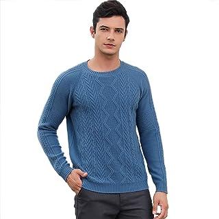 Autunno e Inverno Gli Uomini Intorno al Collo Addensato di Stracci Maniche Pantaloni Camicia di Colore Solido Maglione Casual