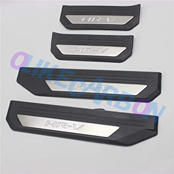 Carbon Fiber Car Door Sill Scuff Plate Stickers Trim for Smart Fortwo,Door Sill Protectors,Welcome Pedal Guard Pedal,Kick Plates Anti Scratch,Car Accessories,2 Pcs
