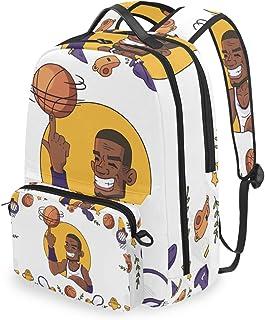 Mochila con bolsa cruzada desmontable, juego de baloncesto, diseño de dibujos animados, para viajes, senderismo, acampada