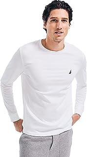 Nautica Men's Long Sleeve Solid Crew Neck T-Shirt