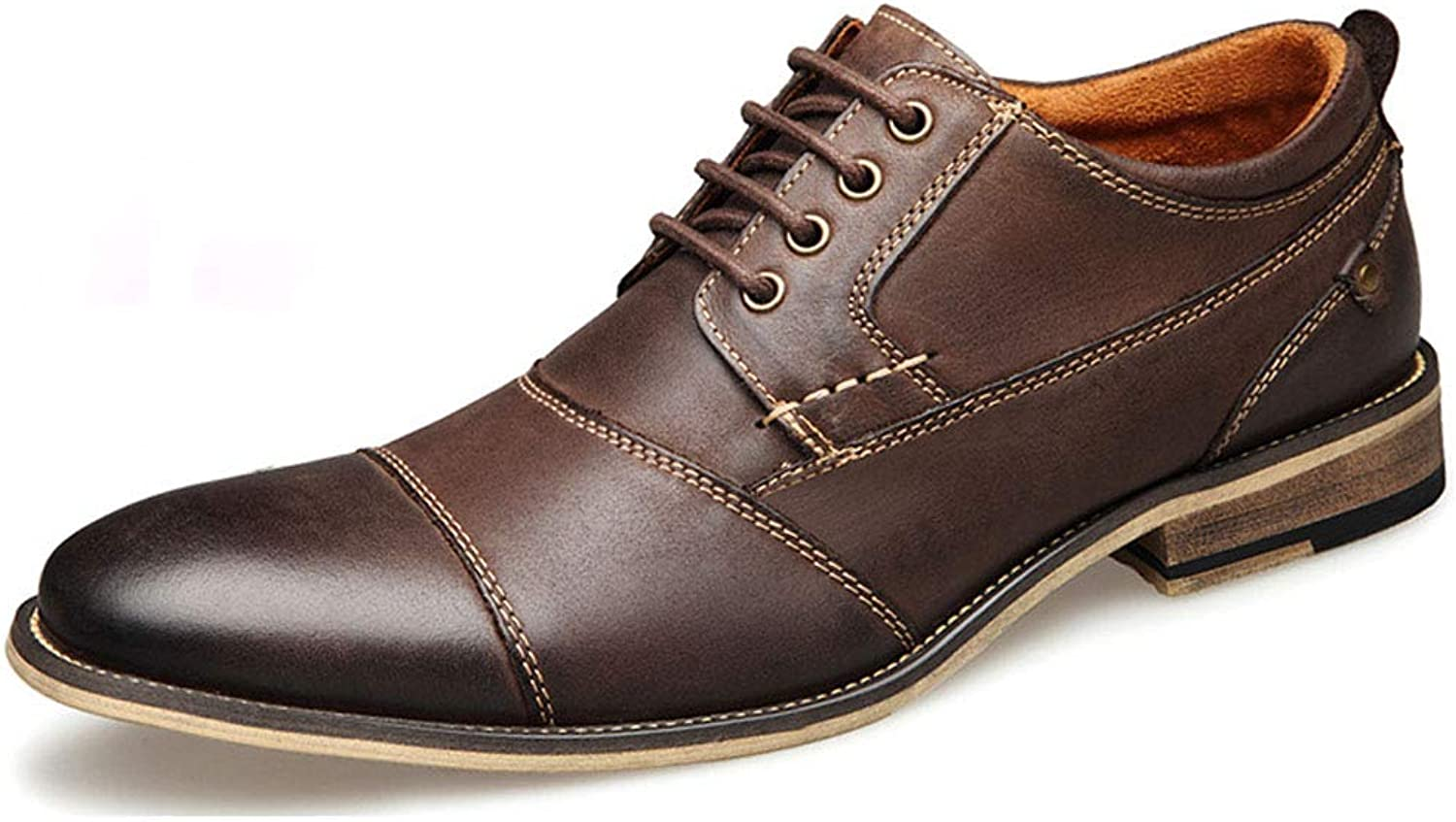 4a1d37c82ee8 men's dress leather brown Dark leather men's shoes dafh8bcc32154-New ...