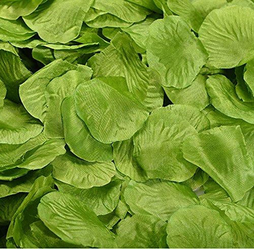 Youkara Seidenstoff-Rosenblätter, Hochzeitsfeier-Dekoration, Tisch-Konfetti, 1000 Stück, Seidenstoff, grün, 5*5cm