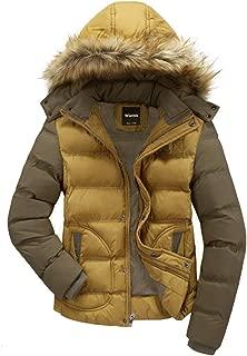 Men's Winter Puffer Coat Casual Fur Hooded Warm Outwear Jacket