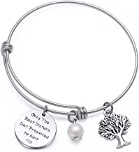 TzrNhm Blossom New Aunt Gift for Sisters Friends Only The Best Sisters Get Promoted to Aunt Bracelet Keychain