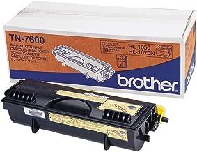 Brother TN7600 - Tóner negro (duración estimada: 6.500 páginas A4 al 5% de cobertura)