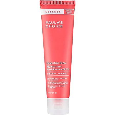 Paula's Choice-DEFENSE Essential Glow Mineral Moisturizer with SPF 30 w/Kiwi Extract, Vitamin C & E, Niacinamide, Argan Oil & Resveratrol, Anti-Pollution Protection for All Skin Types, 2 Oz Tube