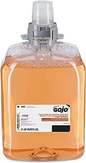 GOJO Luxury Foam Antibacterial Handwash, Fresh Fruit Fragrance, 2000 mL Foam Hand Soap Refill for GOJO FMX-20 Push-Style Dispenser (Pack of 2) - 5262-02