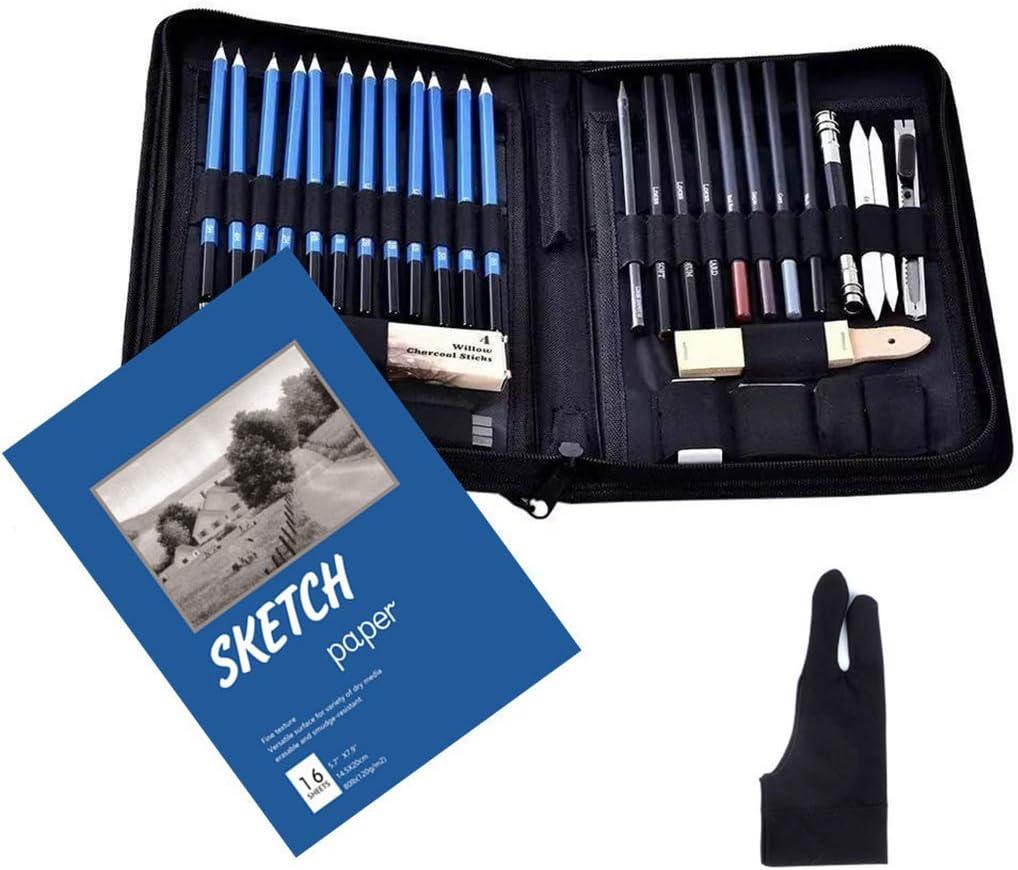 HELYZQ 42pcs Drawing Sketch Pencils Super beauty product restock quality top Set A Pencil Charcoal Fresno Mall Eraser
