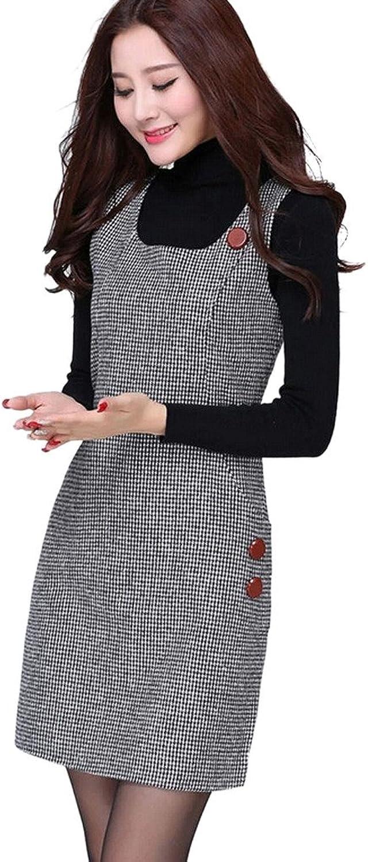 Ms Stunner Women's Sleeveless Houndstooth Dresses