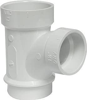Canplas 195126L PVC DWV Sanitary Tee, 2 x 2 x 11/2-Inch