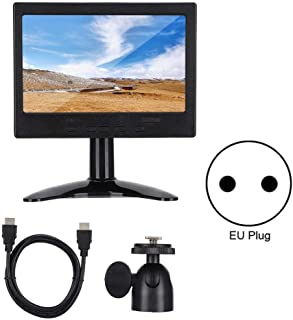 Fournyaa Monitor de PC multifunción 1080P, Pantalla, 16: 9 para Entrada HDMI/VGA/AV con Soporte(European regulations)