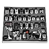 Kit de pies prensatelas, 32 piezas Kit de accesorios para máquinas de coser domésticas de costura
