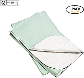 Platinum Care Pads™ Washable Green X-Large Standard Reusable Bed Pads/Hospital Underpads, for use with Incontinence and Pets Size 34x52 in, Pack of 1
